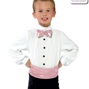 11505  Guys Dance Shirt With Bow Tie Ballet Pink