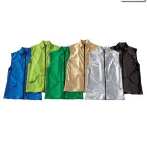 13109  Metallic Denim Guy Dance Vest