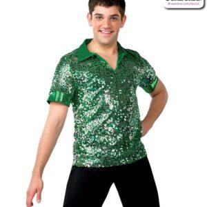 13148  Sequinmeshoverspandexpulloverguysperformancedanceshirt