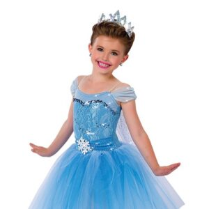 15900 ND  Elsa Christmas Themed Sequin Ballet Tutu Front