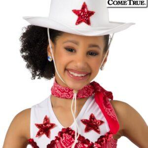 17477H  Showdown Cowboy Hat Dance Costume Accessory Red