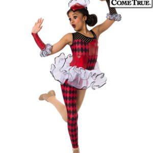 17488  Fool In Love Jester Themed Dance Costume B