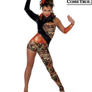 17589  Tigress Tiger Themed Dance Costume