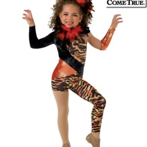 17589  Tigress Tiger Themed Dance Costume Child