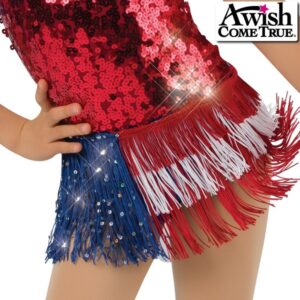 17597F  American Pride Jazztap Dance Fringe Skirt