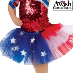 17597T  American Pride Jazztap Dance Tutu Skirt