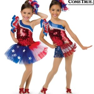 17597  American Pride Jazztap Dance Leotard