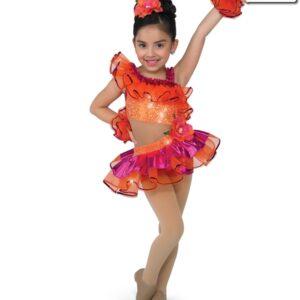 18921  Havana Jazz Tap Tutu Shortall Glo Orange