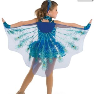19076  Shake A Tail Feather Kids Character Costume Back