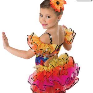 19077  Tiki Room Kids Jazz Tap Costume Back