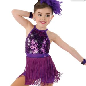 19084  Be Awesome Kids Jazz Tap Costume Purple