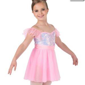 19129  Castles Kids Ballet Costume Candy Pink