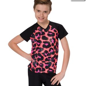 19175  Jungle Rhythm Guy Shirt Kids Jazz Tap Dance Top