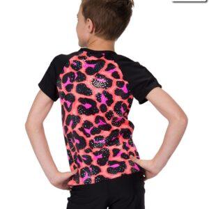 19175  Jungle Rhythm Guy Shirt Kids Jazz Tap Dance Top Back