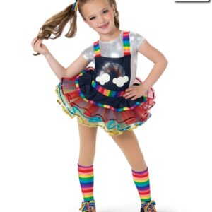 19225  Rainbow Rocks Jazz Tap Kids Costume