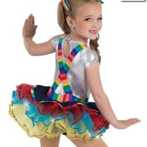 19225  Rainbow Rocks Jazz Tap Kids Costume Back