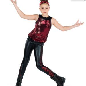 19344  My Everything Hip Hop Street Dance Costume Red