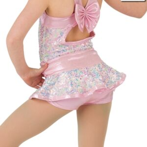 20369HP  Sweet And Sassy Foil Lycra Jazz Dance Hot Pants Back
