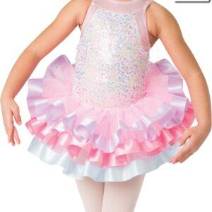 20369T  Sweet And Sassy Ribbon Trimmed Organza Tap Dance Tutu Skirt