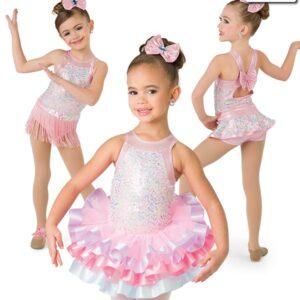 20369 20369  Sweet And Sassy Iridescent Sequin Mesh Jazz Tap Dance Leotard Multi