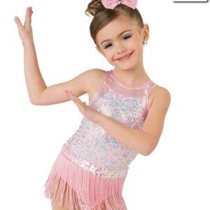 20369  Sweet And Sassy Iridescent Sequin Mesh Jazz Tap Dance Leotard
