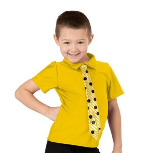20379G  Twist And Shout Boys Dance Top Yellow