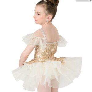 20384  Humble And Kind Short Glitter Sequin Kids Ballet Tutu Back
