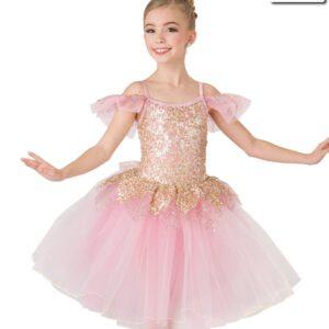 20385  Humble And Kind Romantic Glitter Sequin Kids Ballet Tutu