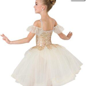 20385  Humble And Kind Romantic Glitter Sequin Kids Ballet Tutu Back