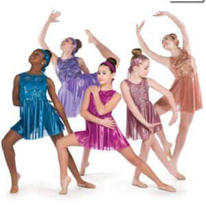 20391  My Hands Sequin Foil Lace Lyrical Dance Dress