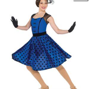 20400  Swing With Me Flocked Polka Jazz Dance Dress