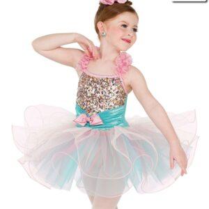 20409 1000 Years Mini Sequin Kids Performance Ballet Tutu Front