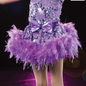20427 SK  Whistle Fleacked Feather Tap Dance Boa Skirt