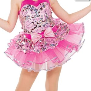 20427T  Whistle Sequin Trimmed Organza Tutu Skirt