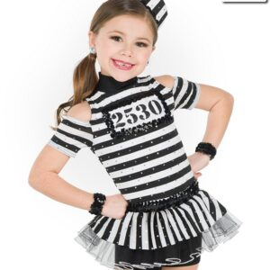 20446  Doing Time Jail Themed Performance Dance Costume A