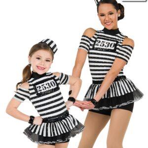 20446  Doing Time Jail Themed Performance Dance Costume Multi
