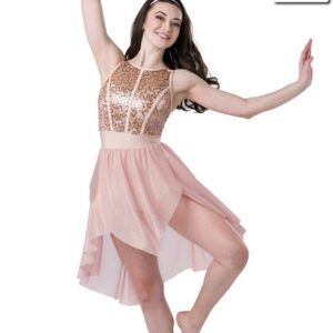 20481  Unconditionally Iridescent Sequin Lace Lyrical Dance Dress