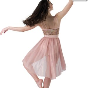 20481  Unconditionally Iridescent Sequin Lace Lyrical Dance Dress Back