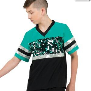 20526  Misdemeanor Guy Large Pailette Sequin Hip Hop Dance Shirt