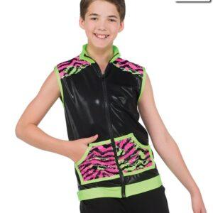 20543  Truth Hurts Zebra Print Guy Hip Hop Dance Vest