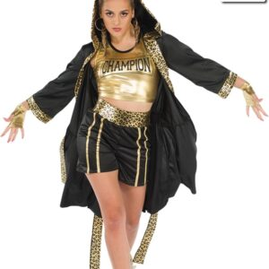 20593J  Gonna Fly Now Robe Boxer Themed Dance Costume