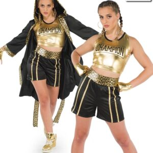 20593  A Gonna Fly Now Boxer Themed Dance Costume Multi