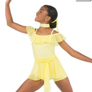 20594  You Are The Reason Spandex Mesh Contemporary Dance Costume Lemon