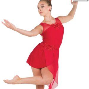 20609  We Both Know Creased Spandex Lyrical Dance Dress