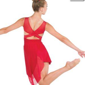 20609  We Both Know Creased Spandex Lyrical Dance Dress Back