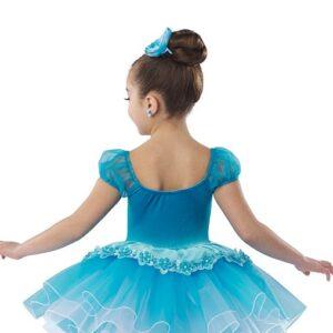 21632  Bluebird Kids Velvet And Sequin Performance Ballet Tutu Back