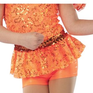 21641HP  Yes We Can Sequin Peplum Foil Lycra Jazz Tap Dance Hot Pant
