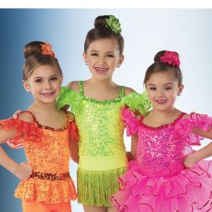 21641  Yes We Can Sequin Lace Jazz Tap Dance Leotard