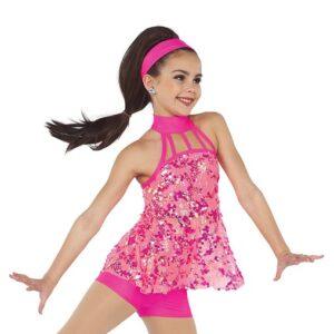 21646  What It Wants Glitz Sequin Mesh Dance Shortall
