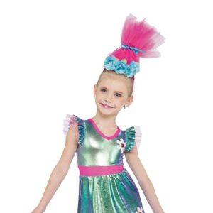 21651  Hair Up Trolls World Kids Character Dance Costume A